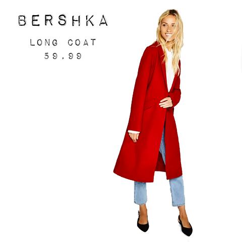 Bershka long coat