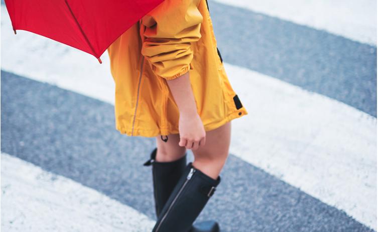 Fleurige rainy day outfits
